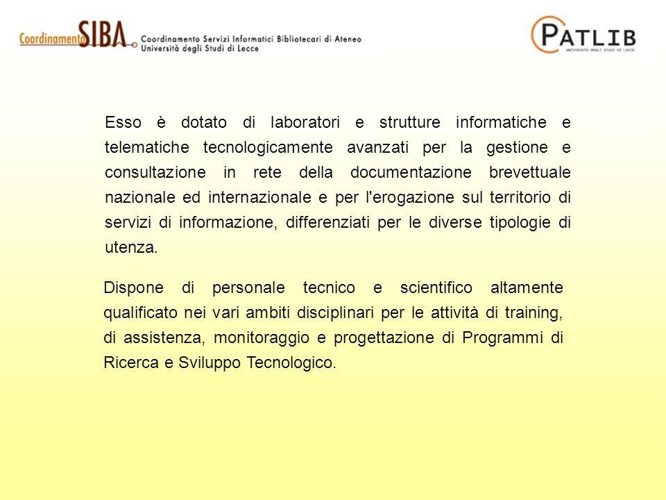 Esso è dotato di laboratori e strutture informatiche e telematiche tecnologicamente avanzati per la gestione e consultazione in rete della documentazi