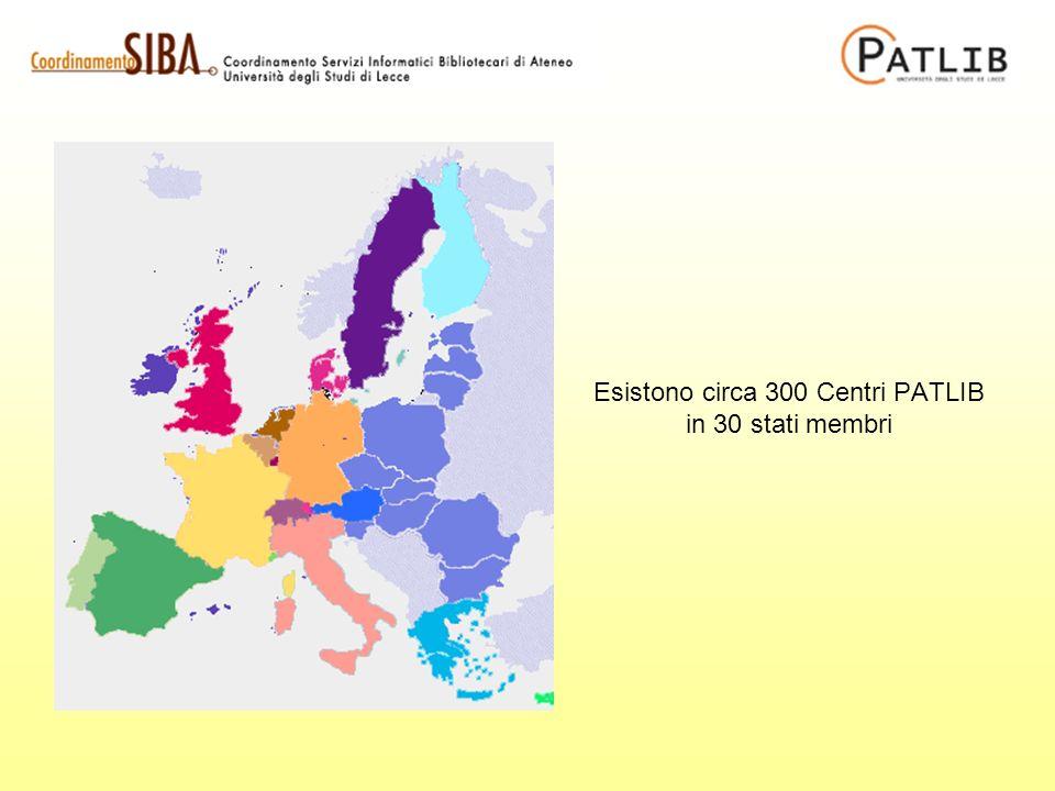 Esistono circa 300 Centri PATLIB in 30 stati membri
