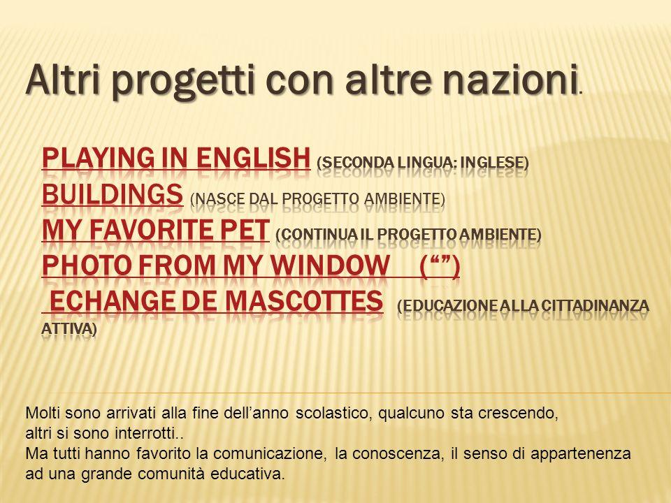 Altri progetti con altre nazioni Altri progetti con altre nazioni.