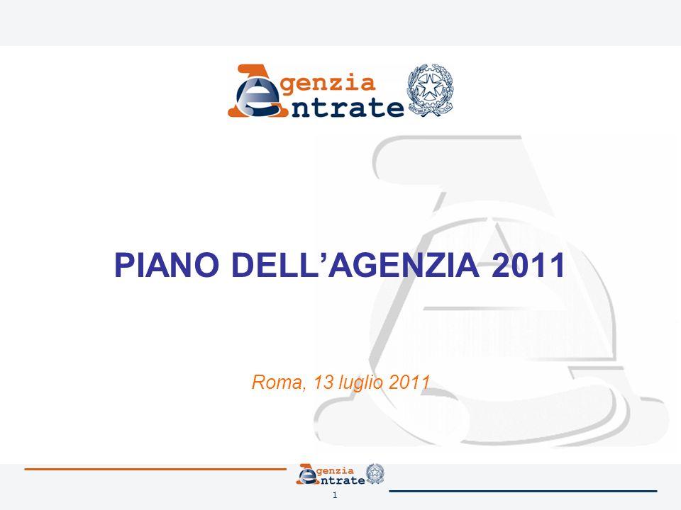 1 PIANO DELLAGENZIA 2011 Roma, 13 luglio 2011