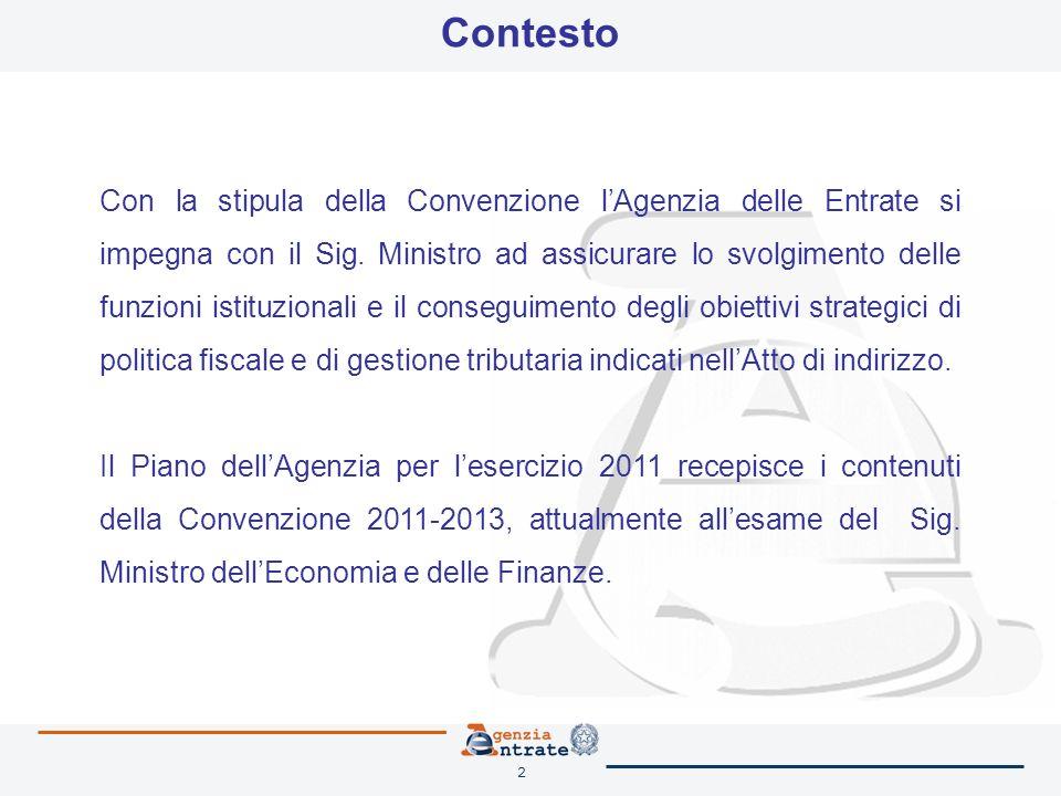 2 Contesto Con la stipula della Convenzione lAgenzia delle Entrate si impegna con il Sig.