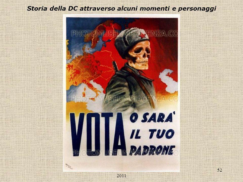 Liceo Scientifico Antonelli, a.s. 2010- 2011 52 Storia della DC attraverso alcuni momenti e personaggi
