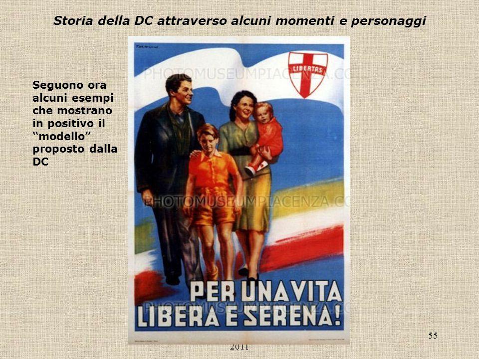 Liceo Scientifico Antonelli, a.s. 2010- 2011 55 Storia della DC attraverso alcuni momenti e personaggi Seguono ora alcuni esempi che mostrano in posit