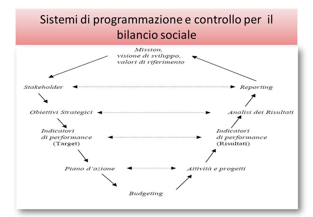 Sistemi di programmazione e controllo per il bilancio sociale