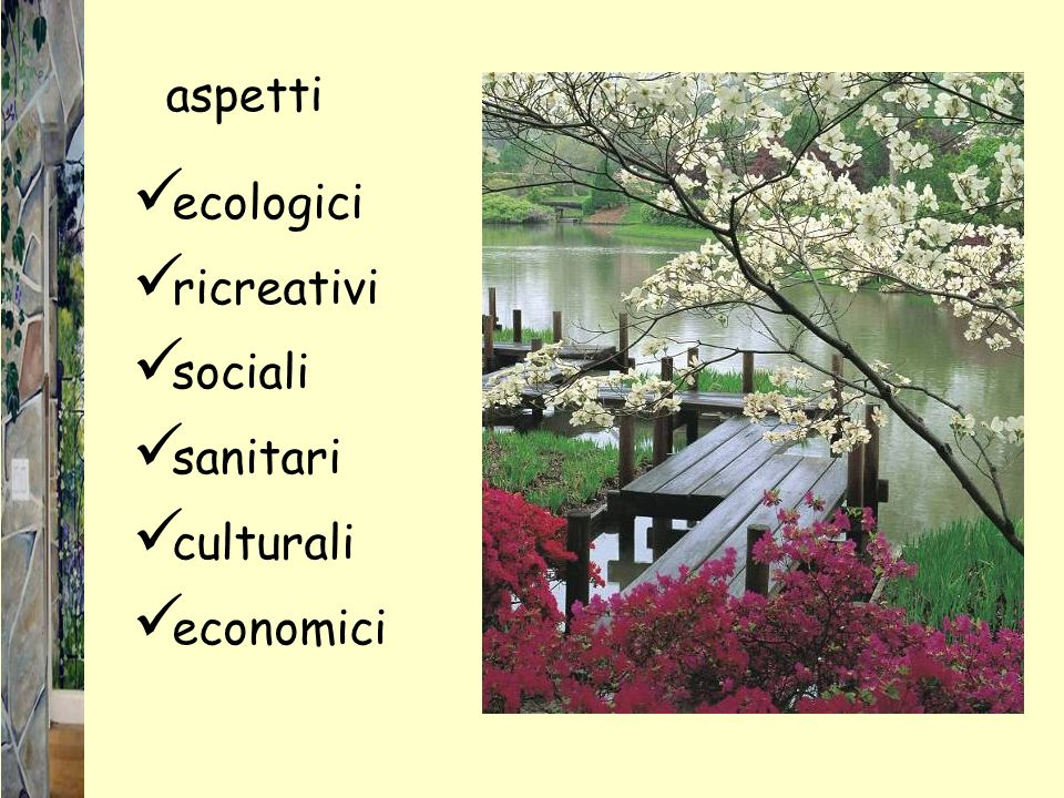ecologici ricreativi sociali sanitari culturali economici aspetti