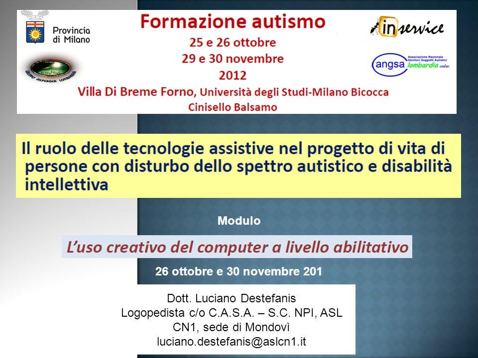 Dott.Luciano Destefanis Logopedista c/o C.A.S.A. – S.C.