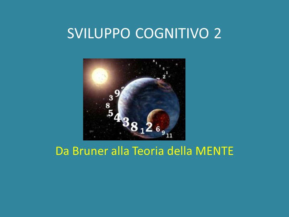 SVILUPPO COGNITIVO 2 Da Bruner alla Teoria della MENTE