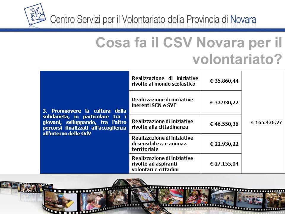 Cosa fa il CSV Novara per il volontariato. 3.