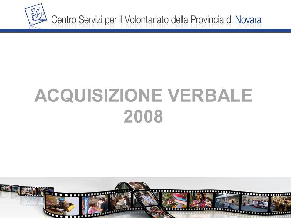 ACQUISIZIONE VERBALE 2008