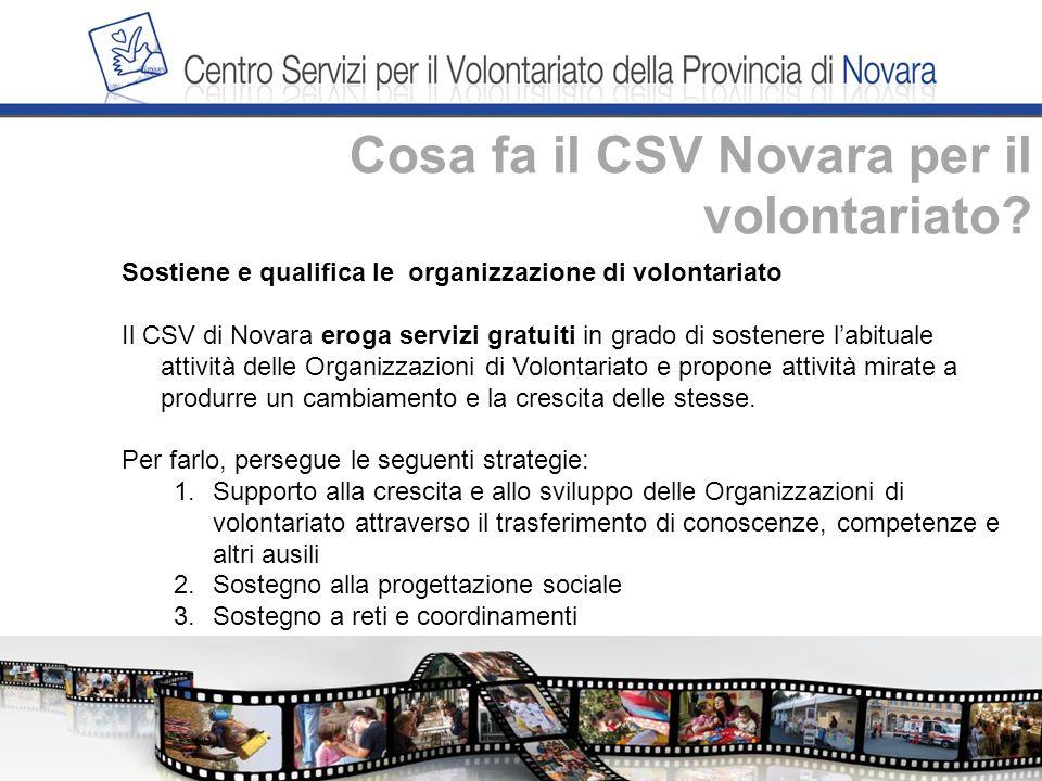 Cosa fa il CSV Novara per il volontariato.4.