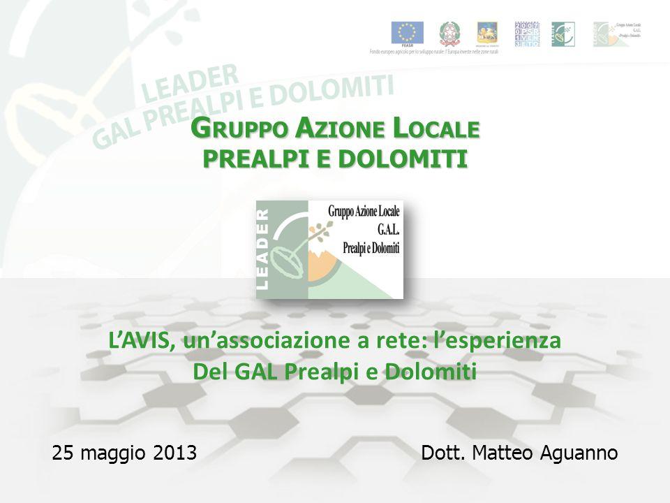 G RUPPO A ZIONE L OCALE PREALPI E DOLOMITI 25 maggio 2013Dott.