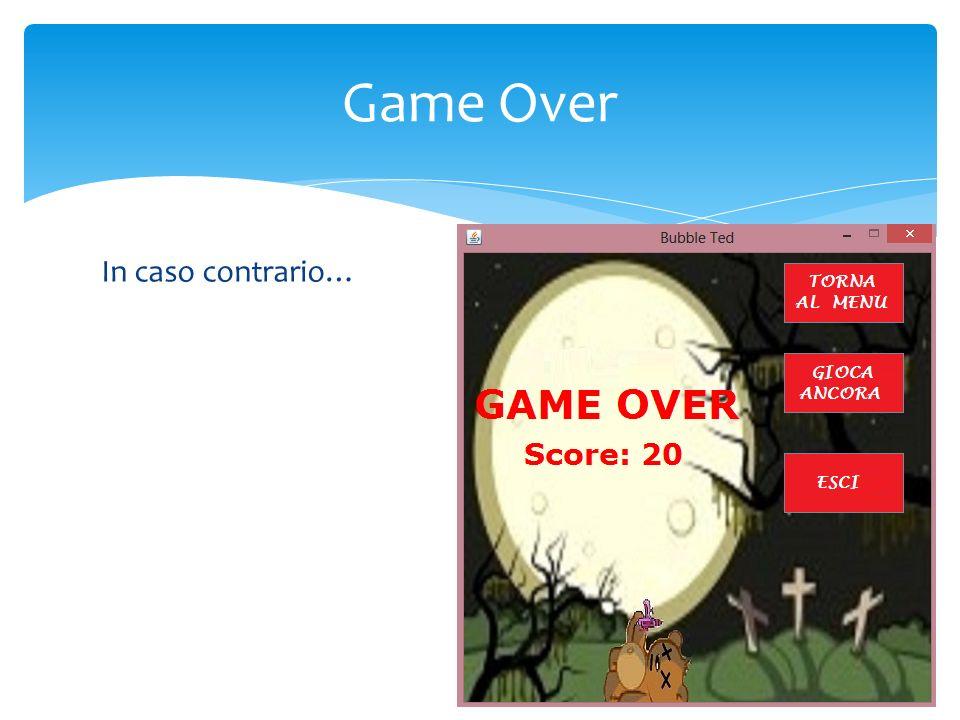 In caso contrario… Game Over