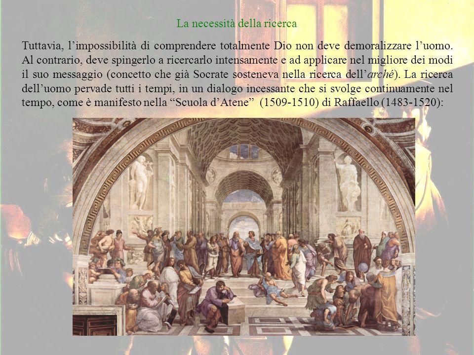 La necessità della ricerca Tuttavia, limpossibilità di comprendere totalmente Dio non deve demoralizzare luomo.