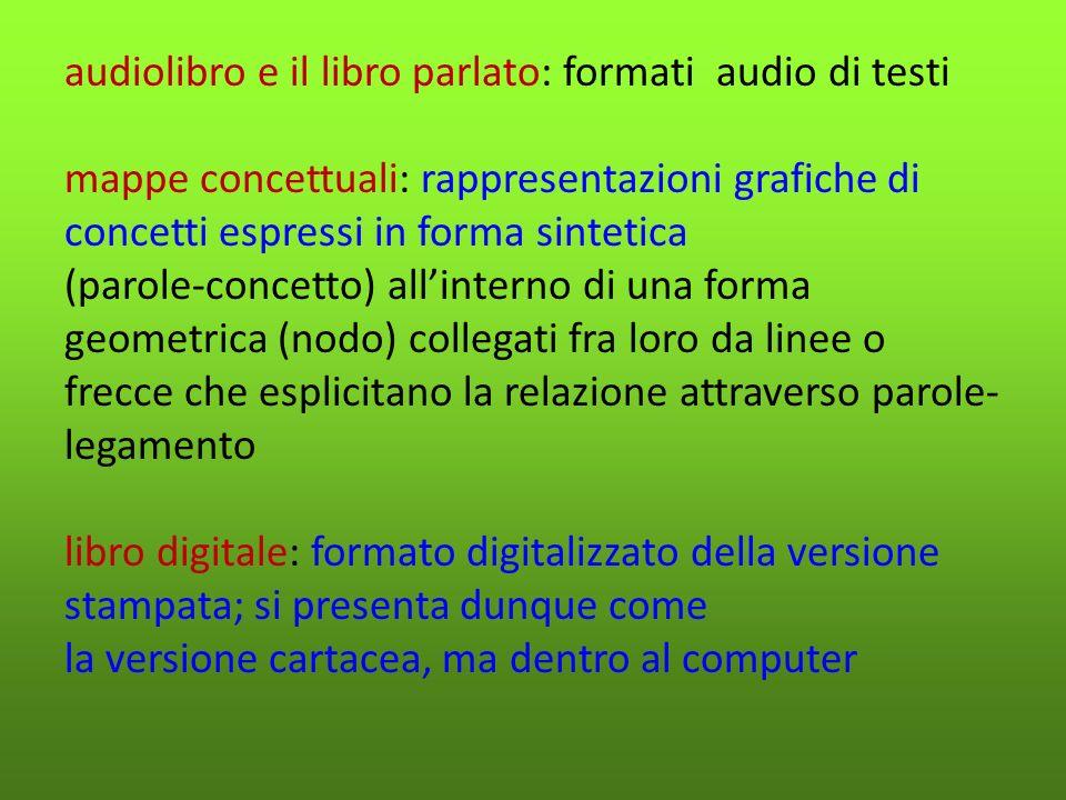 Tecnologie compensative ALTERNATIVA o INTEGRAZIONE (quotidiana o generalizzata), agli strumenti di studio tradizionali per compensare disturbi di lettura e\o scrittura