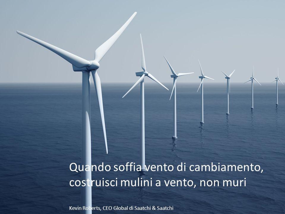 Quando soffia vento di cambiamento, costruisci mulini a vento, non muri Kevin Roberts, CEO Global di Saatchi & Saatchi