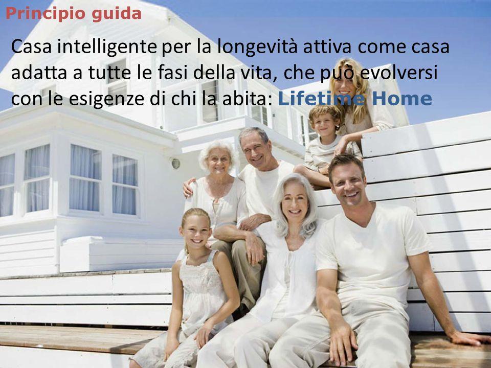 Principio guida Casa intelligente per la longevità attiva come casa adatta a tutte le fasi della vita, che può evolversi con le esigenze di chi la abi