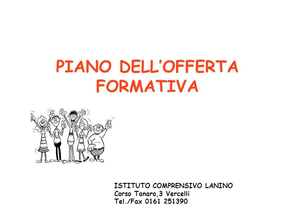 PIANO DELLOFFERTA FORMATIVA ISTITUTO COMPRENSIVO LANINO Corso Tanaro,3 Vercelli Tel./Fax 0161 251390