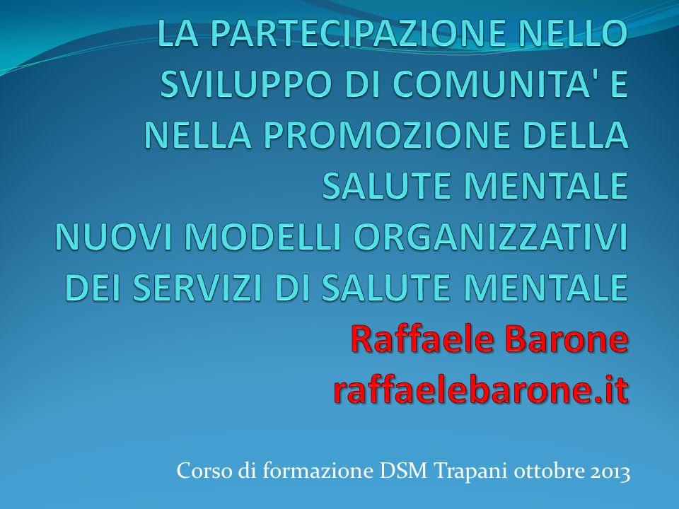 Corso di formazione DSM Trapani ottobre 2013