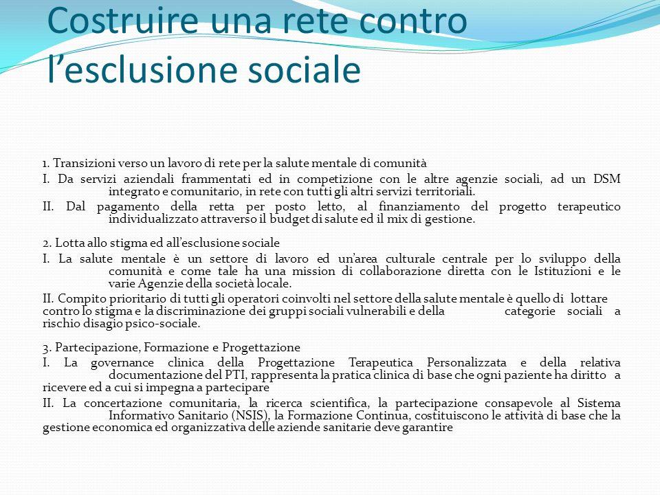4. Missione e Principi Costruire una rete contro lesclusione sociale 1.
