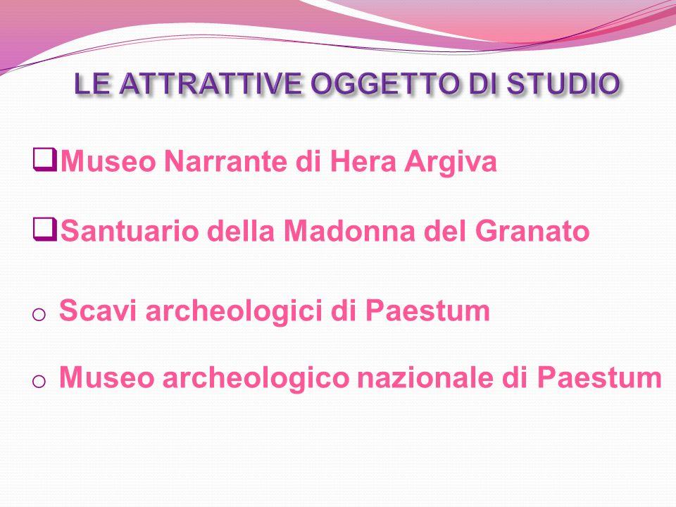 Museo Narrante di Hera Argiva Santuario della Madonna del Granato o Scavi archeologici di Paestum o Museo archeologico nazionale di Paestum