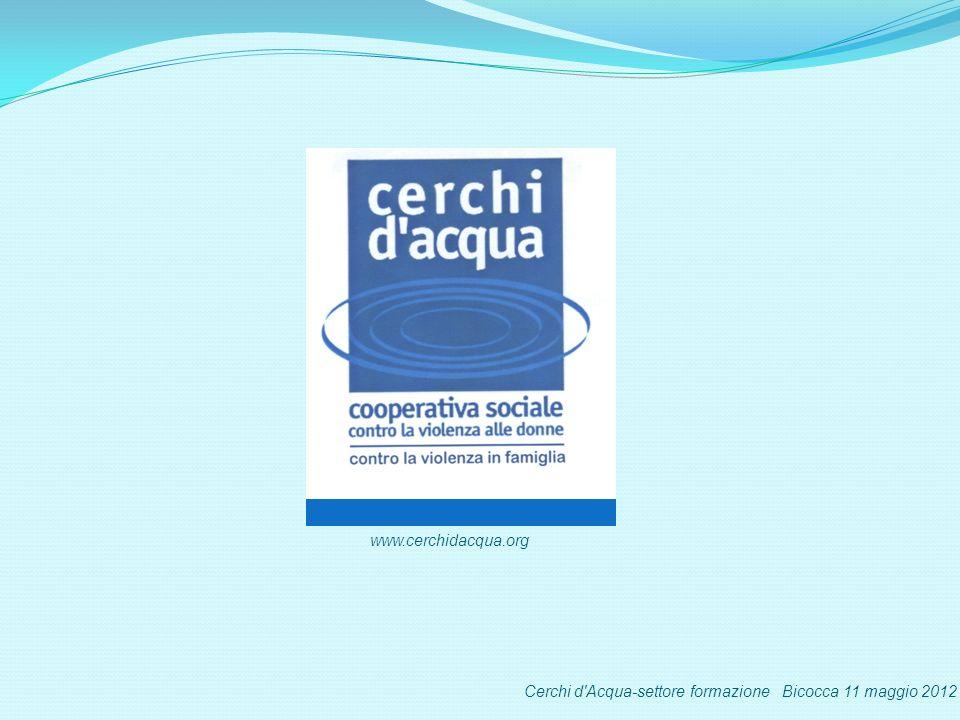 Cerchi d Acqua-settore formazione Bicocca 11 maggio 2012 www.cerchidacqua.org