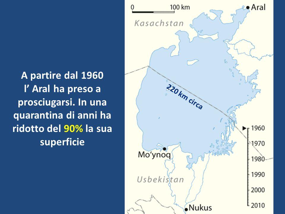 1960.LAral presenta una massa dacqua compatta. Muynaq è il principale porto sul lago....