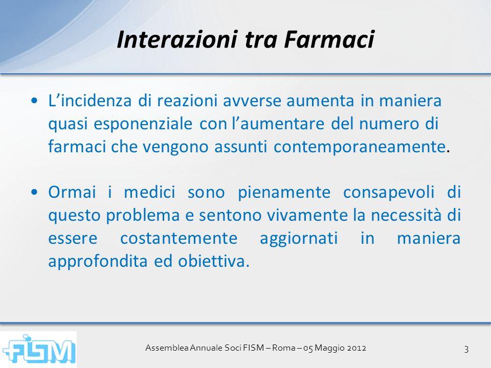 Assemblea Annuale Soci FISM – Roma – 05 Maggio 201214 Interazione Farmaci Versione per SmartPhone Interazione Farmaci Versione per SmartPhone Il Servizio potrà essere utilizzato solo dai Medici.
