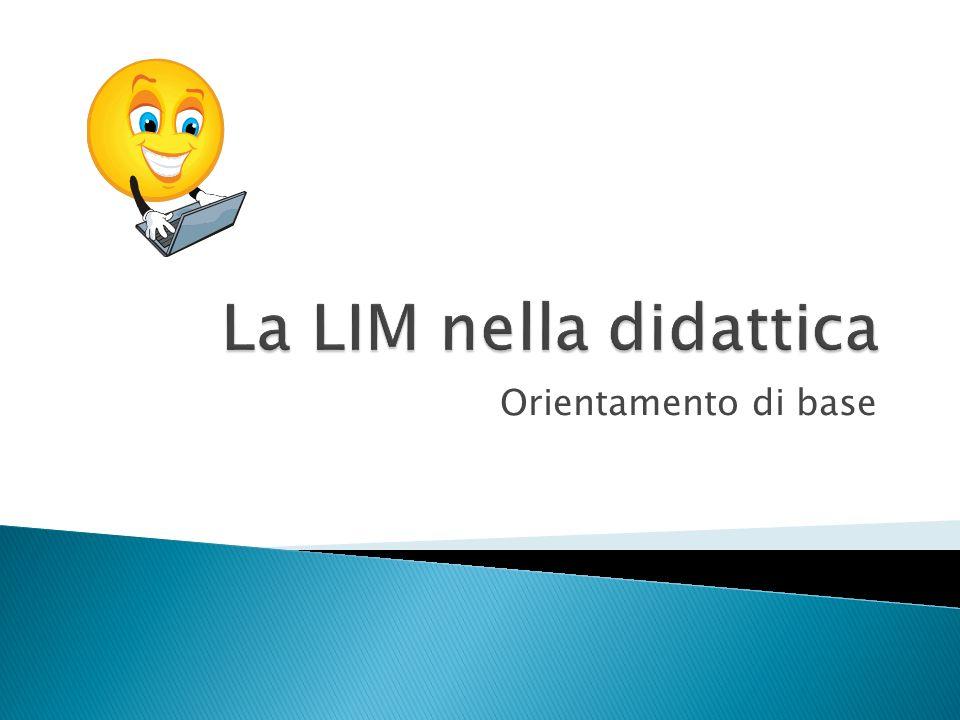 La novità della LIM è quella di essere interattiva attraverso il touch-screen.