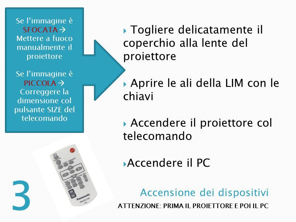 Spegnamo prima il pc e poi il proiettore Realizzata dalla prof.ssa Manuela Marsili Al termine della lezione