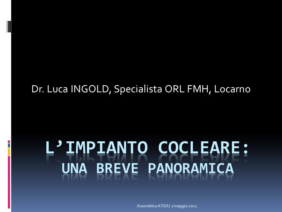 Assemblea ATiDU 7 maggio 2011 Dr. Luca INGOLD, Specialista ORL FMH, Locarno