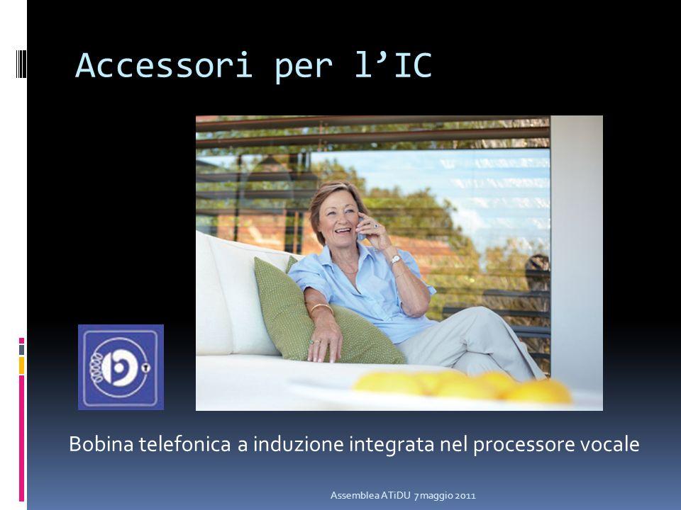 Accessori per lIC Assemblea ATiDU 7 maggio 2011 Bobina telefonica a induzione integrata nel processore vocale