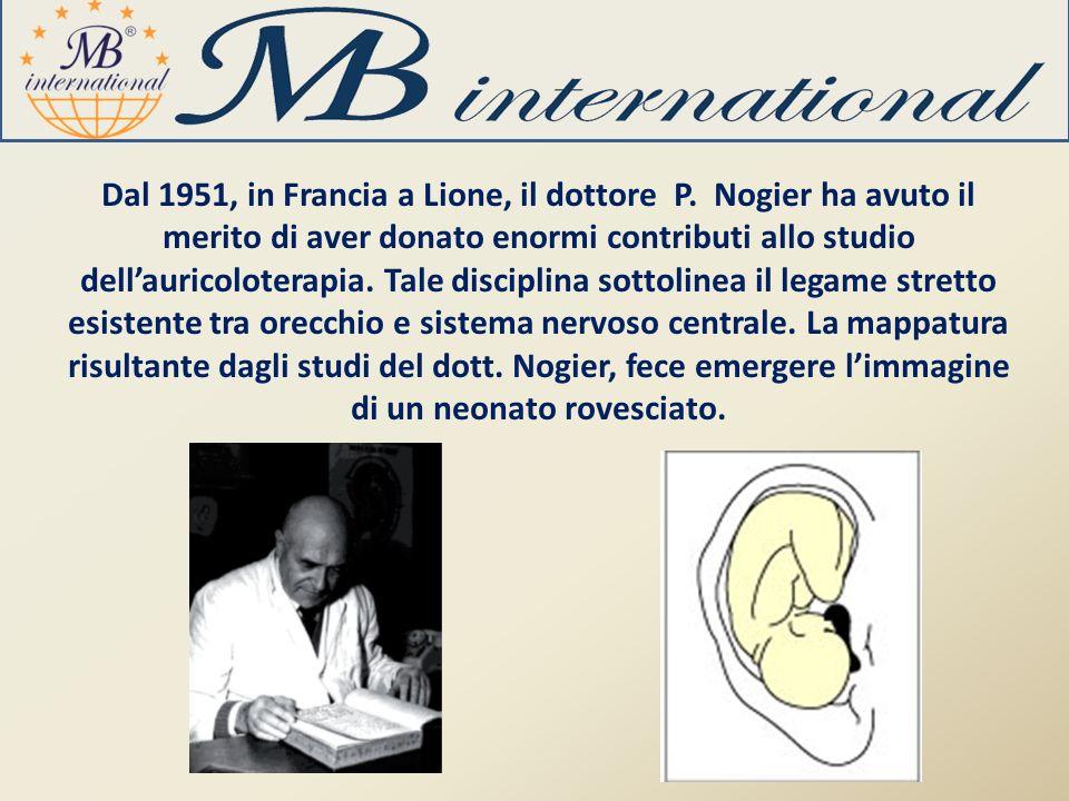 Dal 1951, in Francia a Lione, il dottore P. Nogier ha avuto il merito di aver donato enormi contributi allo studio dellauricoloterapia. Tale disciplin