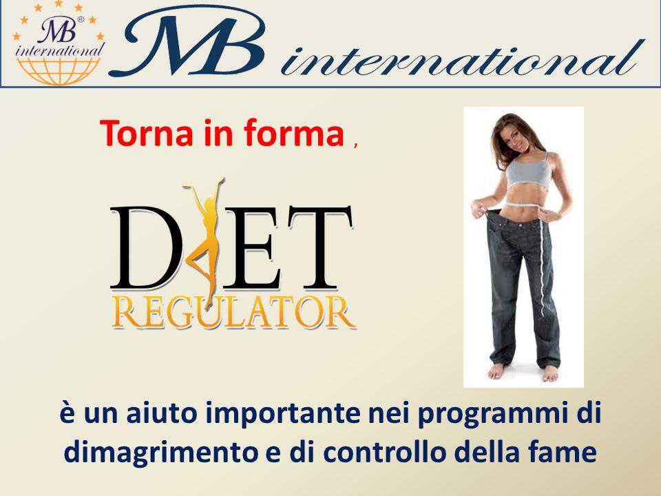 Torna in forma, è un aiuto importante nei programmi di dimagrimento e di controllo della fame
