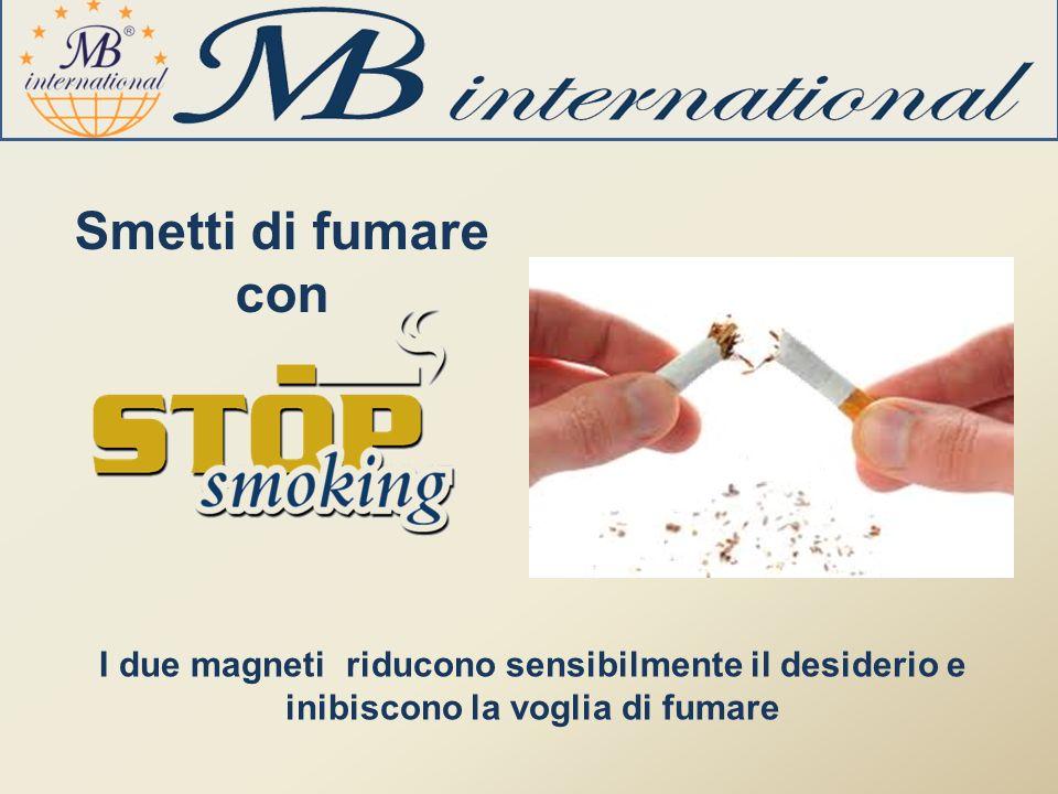 Smetti di fumare con I due magneti riducono sensibilmente il desiderio e inibiscono la voglia di fumare
