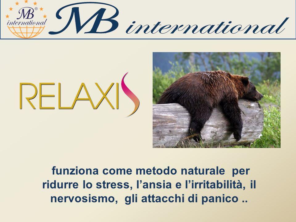 funziona come metodo naturale per ridurre lo stress, lansia e lirritabilità, il nervosismo, gli attacchi di panico..