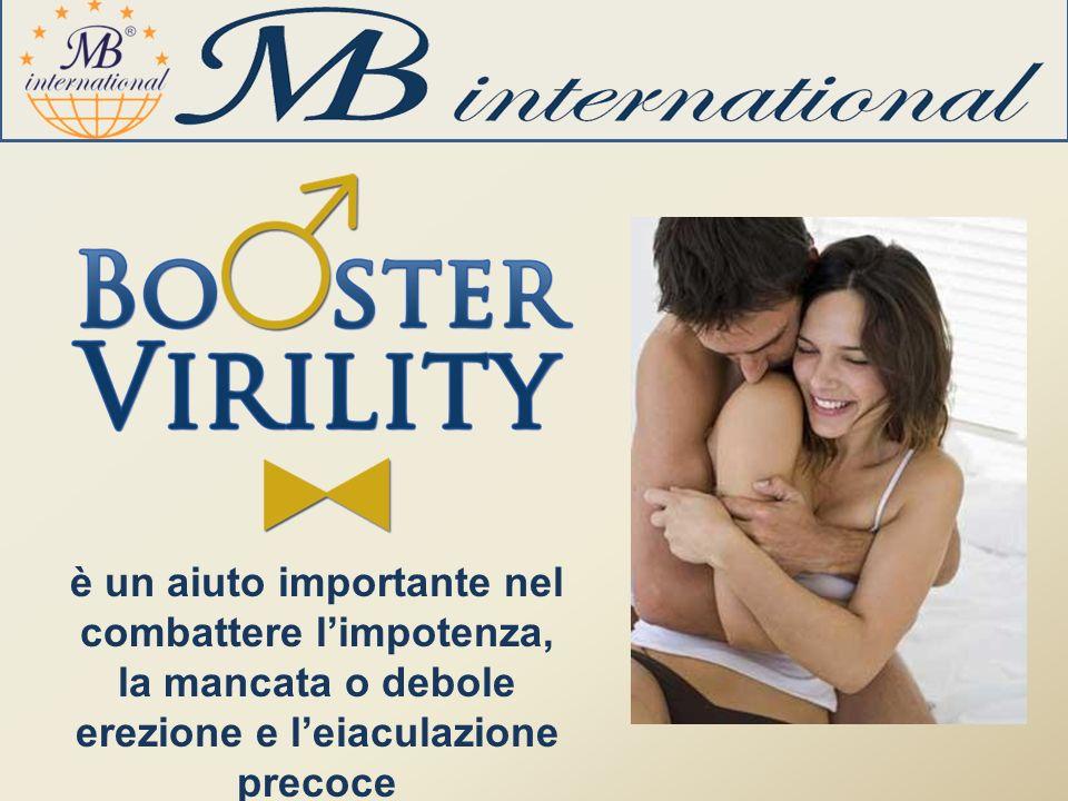 è un aiuto importante nel combattere limpotenza, la mancata o debole erezione e leiaculazione precoce
