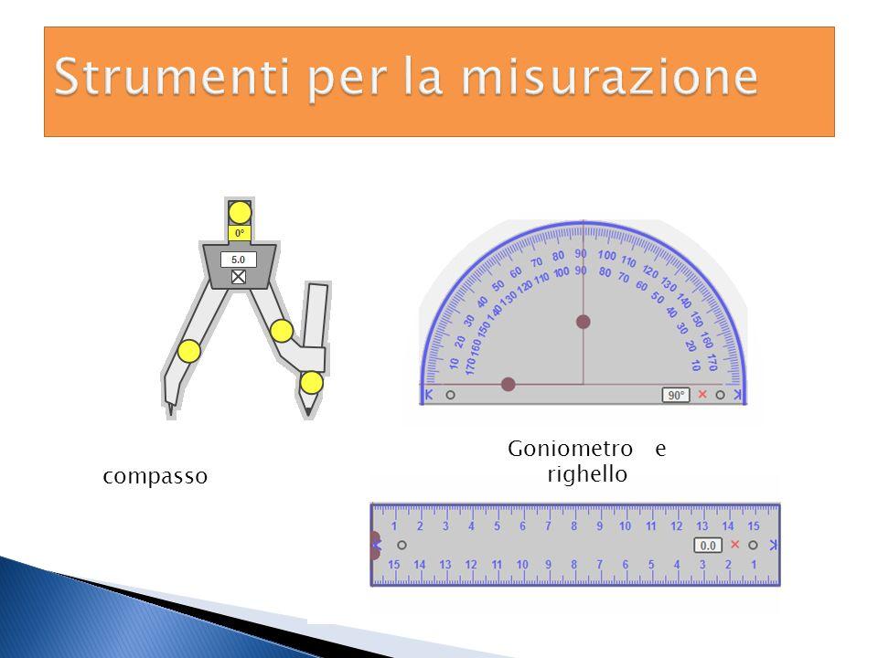 compasso Goniometro e righello