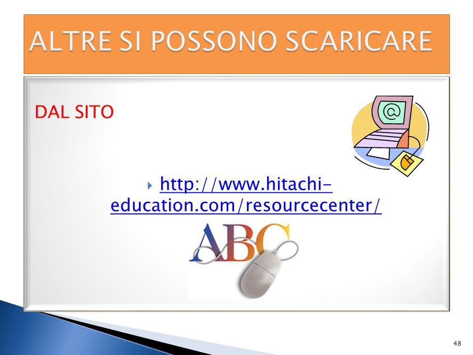 DAL SITO http://www.hitachi- education.com/resourcecenter/ http://www.hitachi- education.com/resourcecenter/ 48