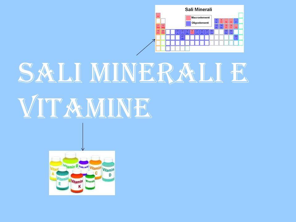 Sali minerali e vitamine