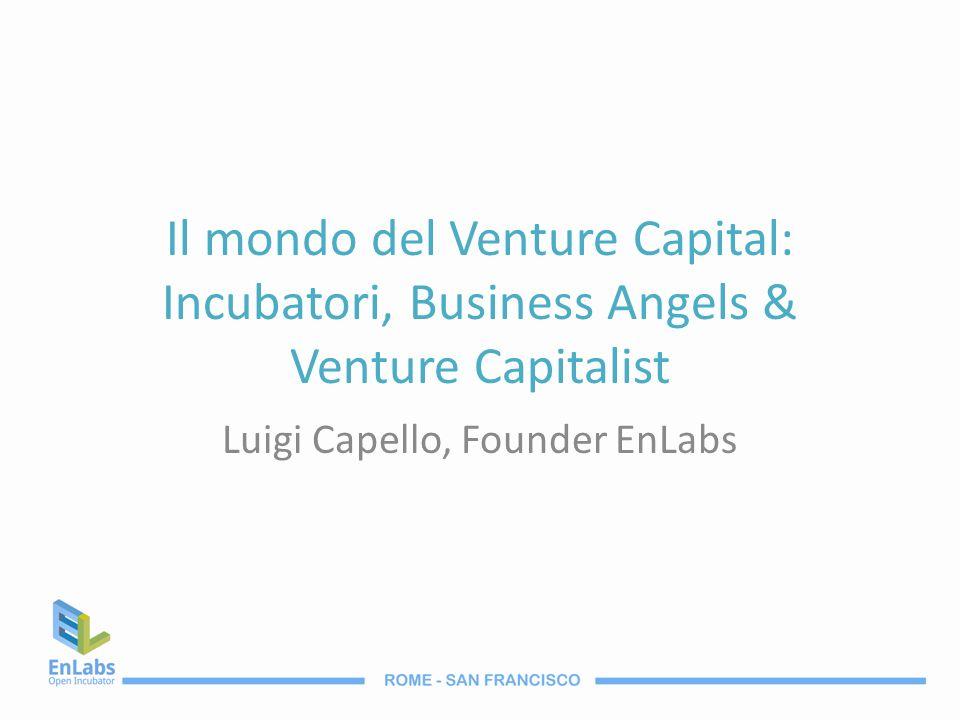 Il mondo del Venture Capital: Incubatori, Business Angels & Venture Capitalist Luigi Capello, Founder EnLabs