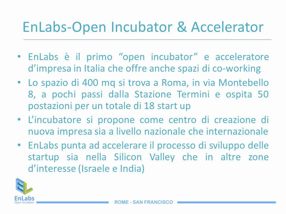 EnLabs-Open Incubator & Accelerator EnLabs è il primo open incubator e acceleratore dimpresa in Italia che offre anche spazi di co-working Lo spazio d