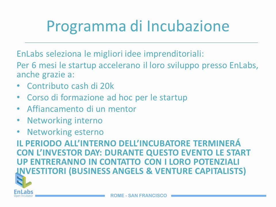 Programma di Incubazione EnLabs seleziona le migliori idee imprenditoriali: Per 6 mesi le startup accelerano il loro sviluppo presso EnLabs, anche gra