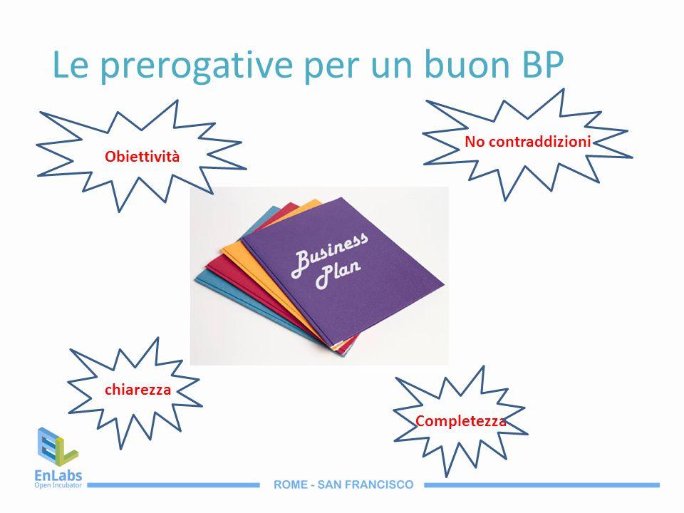 Le prerogative per un buon BP chiarezza Completezza No contraddizioni Obiettività