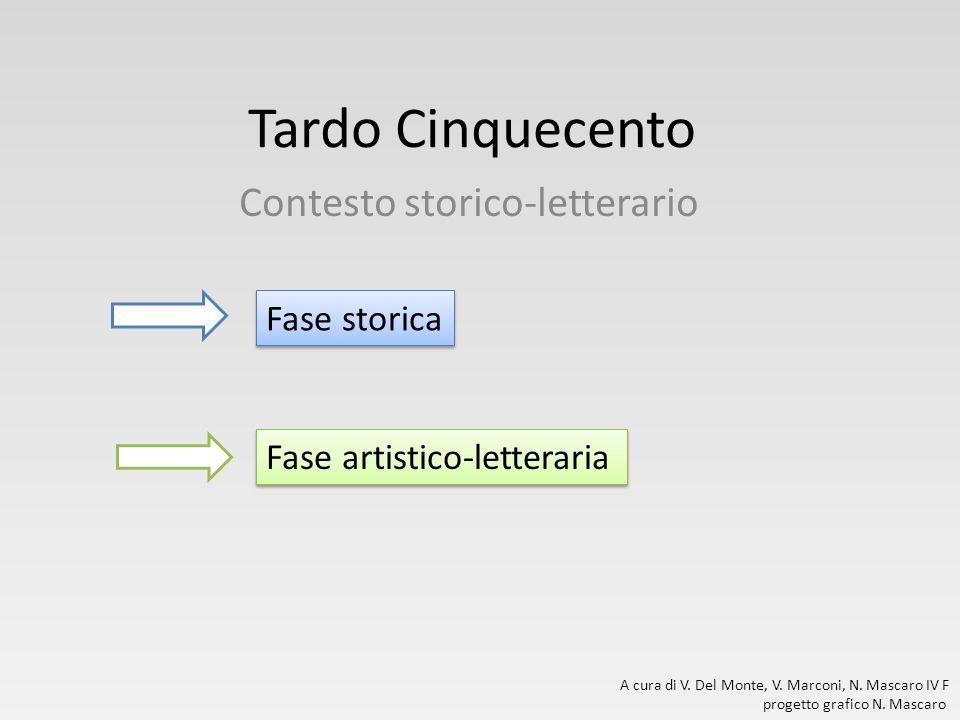 Tardo Cinquecento Contesto storico-letterario A cura di V. Del Monte, V. Marconi, N. Mascaro IV F progetto grafico N. Mascaro Fase storica Fase artist