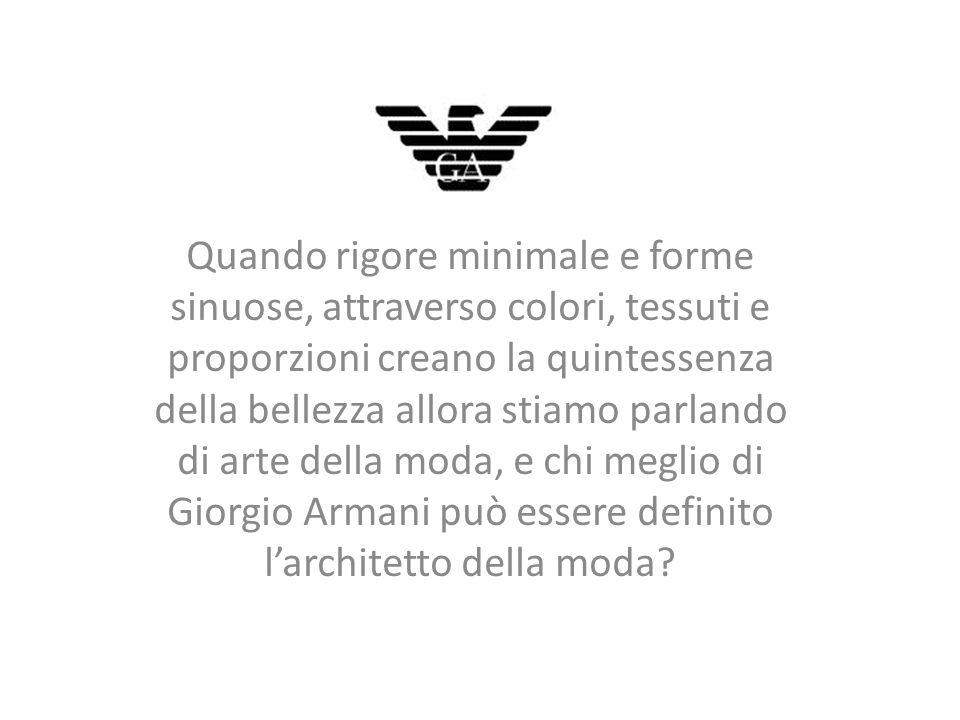 Giorgio Armani, stilista e imprenditore, è nato a Piacenza l11 luglio 1934, dopo il liceo Scientifico intraprende gli studi di Medicina, che abbandona dopo qualche anno.