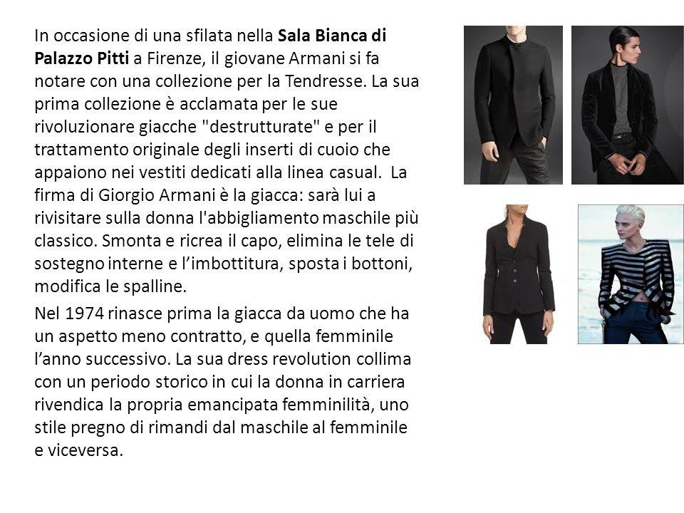 Nel 1975 dà vita assieme a Sergio Galeotti alla società Giorgio Armani S.p.A., con una linea maschile e una femminile, ready-to-wear.