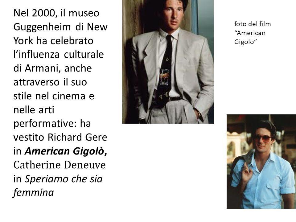 Sono suoi gli abiti ne Il tè nel deserto di Bernardo Bertolucci e i costumi disegnati per lElettra di Strauss e, nel 1980, per Janis Martin in Erwartung di Shonberg alla Scala di Milano.