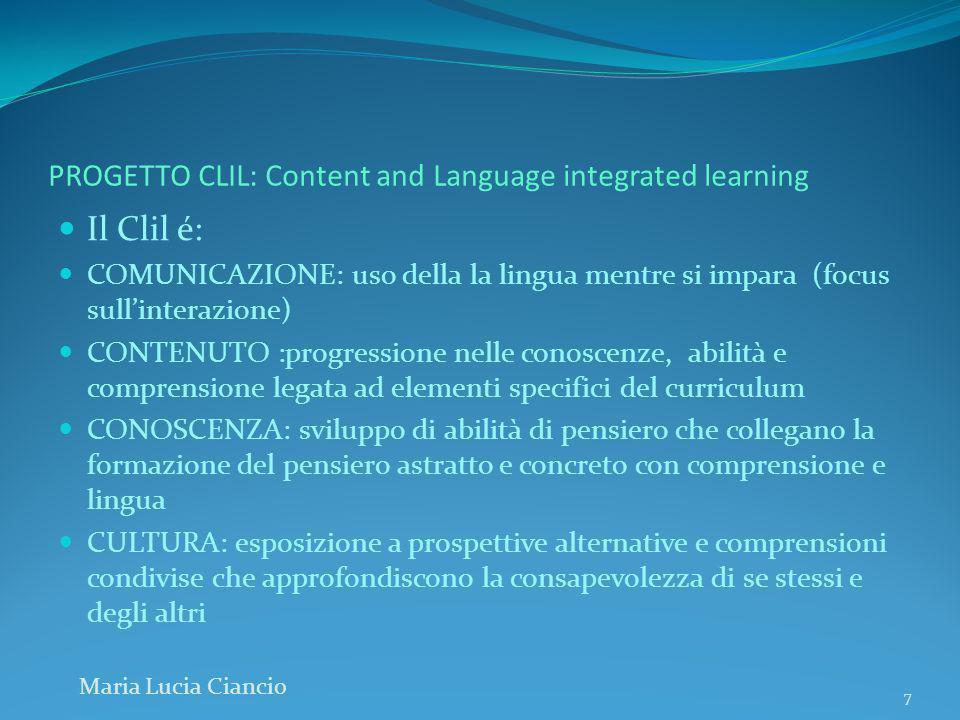 PROGETTO CLIL: Content and Language integrated learning PROGETTARE PERCORSI CLIL Le attività didattiche e tutti gli interventi ad esse collegati vanno programmate con grande precisione.