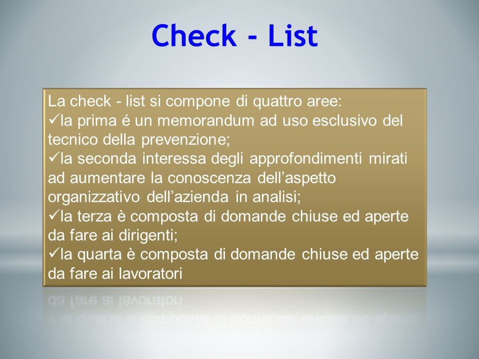 Check - List