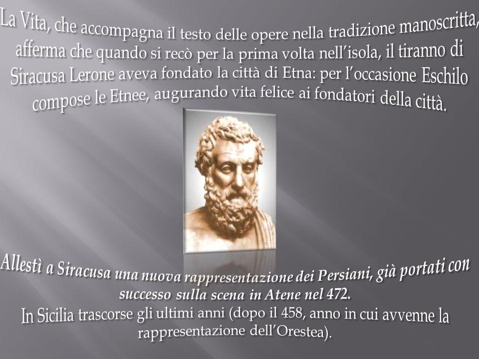 Tema e Stile 1.Il tema del teatro di Eschilo è quello della giustizia divina.